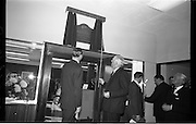 Official Opening of I.C.T.House..1963..01.10.1963..10.01.1963..1st October 1963..Dr James Ryan TD, Minister for Finance,officially opened I.C.T. House ,Adelaide Road, Dublin, for international Computers and Tabulators Ltd. The company had staff working in several sites around the city and the new premises will bring all of them together under the one roof...Picture shows some of the directors admiring the plaque commemorating the opening of ICT House.