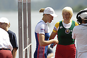 2006 FISA World Cup, Lucerne, SWITZERLAND, 09.07.2006 BLR W1X Ekaterine KARSTEN, right and RUS Julia LEVINA, Photo  Peter Spurrier/Intersport Images email images@intersport-images.com, Finals Day, Morning A Finals. ....[Mandatory Credit Peter Spurrier/Intersport Images... Rowing Course, Lake Rottsee, Lucerne, SWITZERLAND.