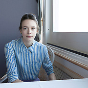 """Venice Lido, Italy, September 10, 2015. French actress Stacy Martin at the 72nd Venice International Film Festival attending the premiere of: """"Taj Mahal"""" and """"The Childhood of a Leader"""" where she's part of the cast."""