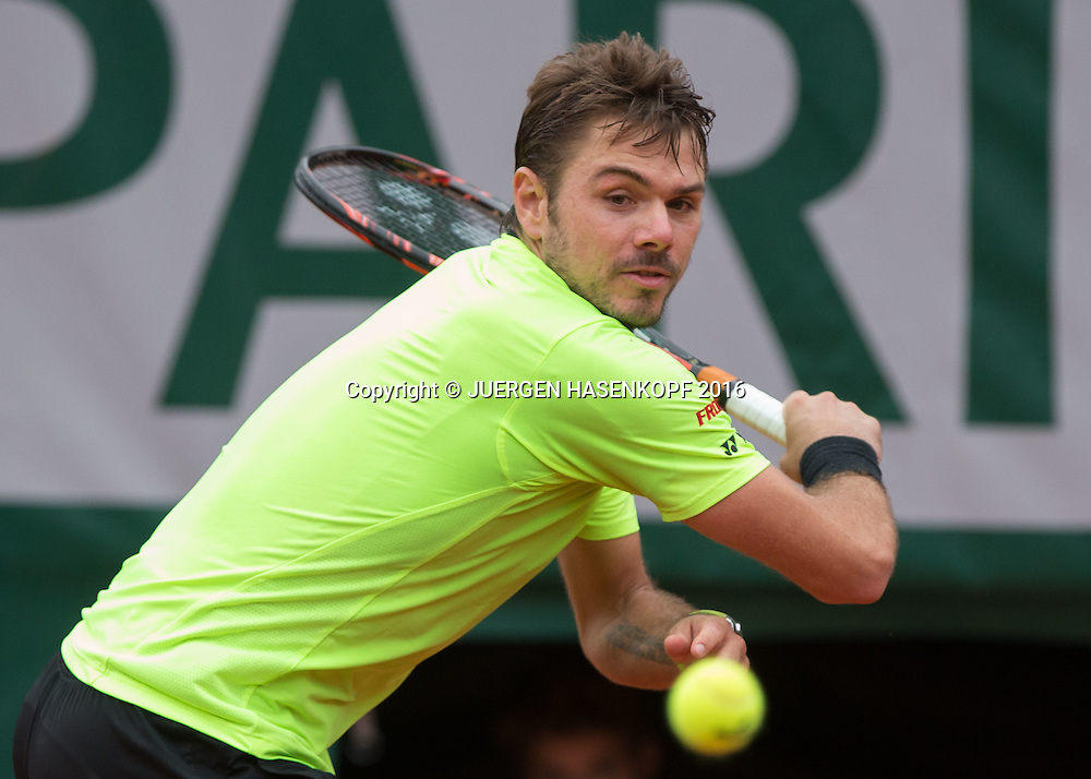 Stan Wawrinka (SUI)<br /> <br /> Tennis - French Open 2016 - Grand Slam ITF / ATP / WTA -  Roland Garros - Paris -  - France  - 3 June 2016.