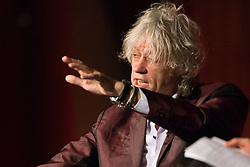 © Licensed to London News Pictures. 24/07/2014. Musician and Campaigner Sir Bob Geldof makes a gesture during his talk during a session of the 20th International AIDS conference held in Melbourne Australia. Photo credit : Asanka Brendon Ratnayake/LNP
