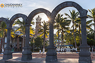 Los Arcos Ampitheatre and Our Lady of Guadalupe Church in Puerto Vallarta, Mexico