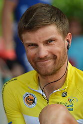 March 23, 2018 - Tanjung Malim, Malaysia - Race leader, Artem Ovechkin from Terengganu Team, seen during preparations ahead of the sixth stage, the 108.5km from Tapah to Tanjung Malim, of the 2018 Le Tour de Langkawi. .On Friday, March 23, 2018, in Tanjung Malim, Malaysia. (Credit Image: © Artur Widak/NurPhoto via ZUMA Press)