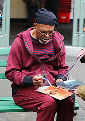 March 27, 2017 - New York City, NY, United States - March 27, 2017 New York City....Actor Samuel L. Jackson on the set of the new movie 'Life Itself' on March 27 2017 in New York City  (Credit Image: © Zelig Shaul/Ace Pictures via ZUMA Press)