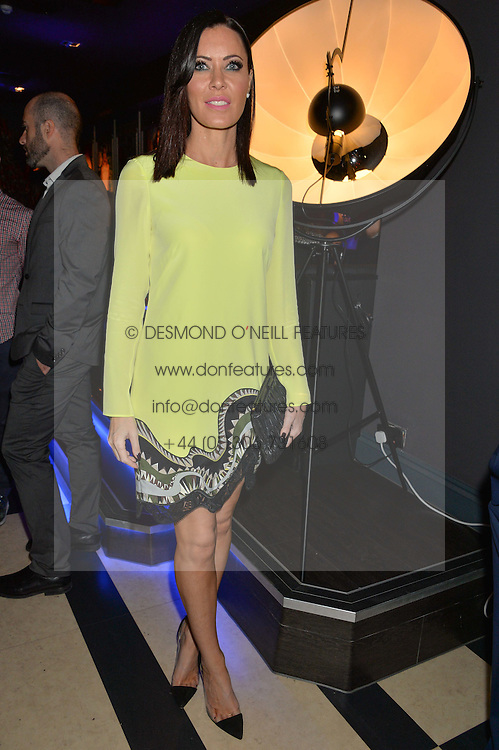 LINZI STOPPARD at a party to celebrate the 1st anniversary of Hello! Fashion Monthly magazine held at Charlie, 15 Berkeley Street, London on 14th October 2015.