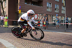 Trixi Worrack at Boels Rental Ladies Tour Prologue a 4.3 km individual time trial in Wageningen, Netherlands on August 29, 2017. (Photo by Sean Robinson/Velofocus)