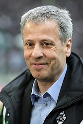 07.04.2012, Borussia-Park, Moenchengladbach, GER, 1. FBL, Borussia Moenchengladbach vs Hertha BSC, 29. Spieltag, im Bild Trainer Lucien Favre (Borussia Moenchengladbach), Portrait // during the German Bundesliga Match, 29th Round between VBorussia Moenchengladbach and Hertha BSC at the Borussia Park, Moenchengladbach, Germany on 2012/04/07. EXPA Pictures © 2012, PhotoCredit: EXPA/ Eibner/ Oliver Vogler..***** ATTENTION - OUT OF GER *****