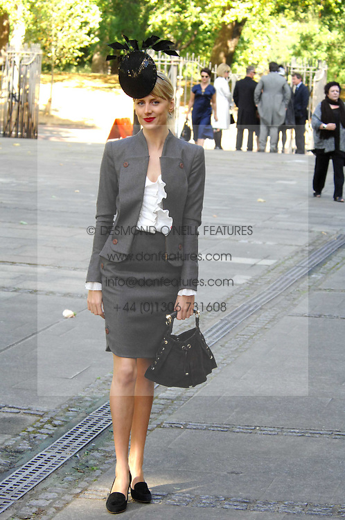 LADY EMILY COMPTON at the memorial service of Isabella Blow held at the Guards Chapel, London W1 on 18th September 2007.<br /><br />NON EXCLUSIVE - WORLD RIGHTS