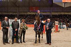 Zoer Albert, NED, Florian<br /> Springen Klasse Z-ZZ <br /> KWPN Hengstenkeuring 2017<br /> © Dirk Caremans<br /> 02/02/17