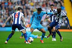 Paulinho (BRA) of Tottenham Hotspur - is challenged by Liam Ridgewell (ENG) of West Brom and Steven Reid (IRL) Photo mandatory by-line: Rogan Thomson/JMP - 07966 386802 - 12/04/2014 - SPORT - FOOTBALL - The Hawthorns Stadium - West Bromwich Albion v Tottenham Hotspur - Barclays Premier League.