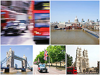 Collage of London city