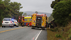 Auckland-One dead after crash between car and truck, Helensville