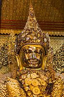the golden buddha of Maha Myat Muni Pagoda temple Mandalay city Myanmar (Burma)