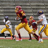 (l-r) riordan #3 - tre gunter, lincoln #88 - joshua bonse-davis, lincoln #6 - demetrius williams, riordan #41 - jimmy stasko Riordan v. Lincoln football - 091212