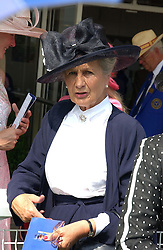 The DUCHESS OF RICHMOND & GORDON at the 4th day of the annual Glorious Goodwood horseracing festival held at Goodwood Racecourse, West Sussex on 30th July 2004.