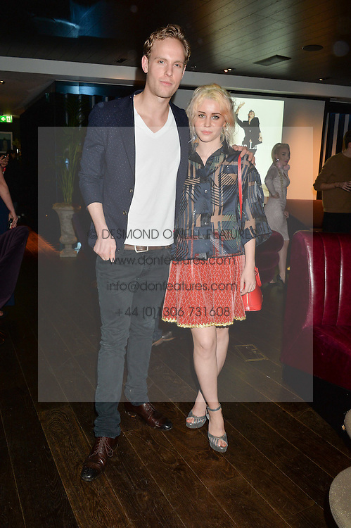 JACK FOX and BILLIE JD PORTER at a party hosted by Christian Lacroix partnered with Supa Model Management to celebrate London Men's Collections January 2015, held at the Rumpus Room, the roof top bar at the top of the Mondrian London, 20 Upper Ground, London SE1 on 12th January 2015.