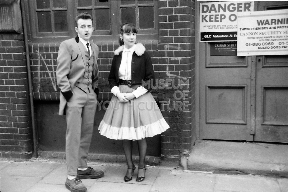 Teddy Boy and Girl, UK, 1980s.