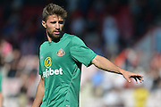 Sunderland AFC striker Fabio Borini warming up before the Barclays Premier League match between Bournemouth and Sunderland at the Goldsands Stadium, Bournemouth, England on 19 September 2015. Photo by Mark Davies.