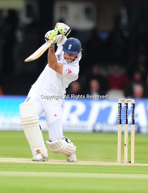18.05.2012 London, England. Andrew Strauss  in action during the First Test between England and West Indies from Lords.