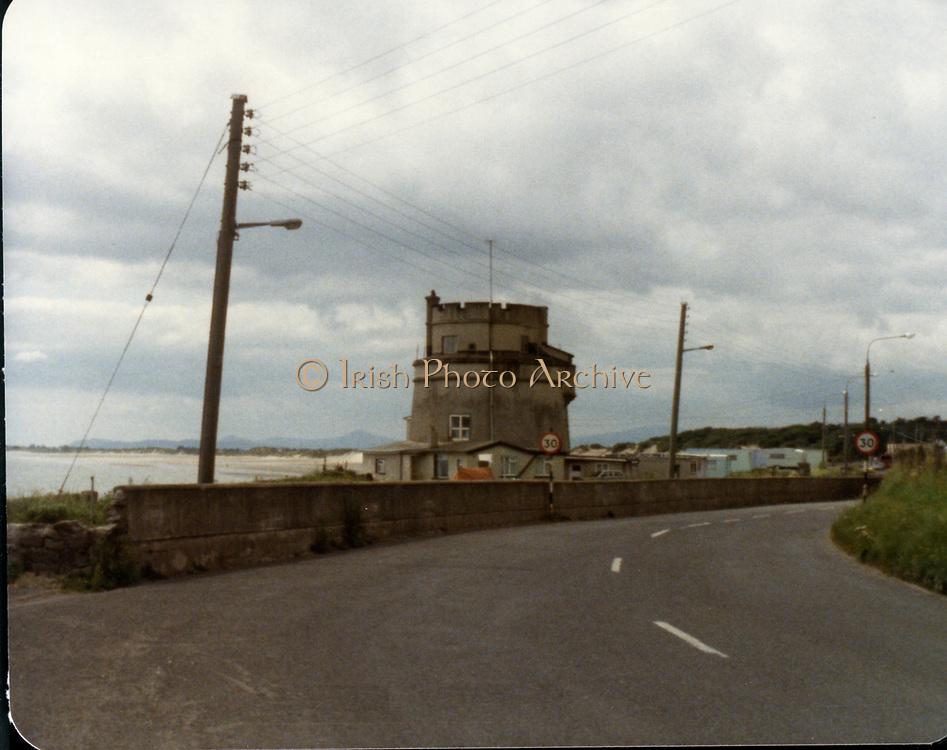 Old amateur photos of Dublin July 1983 WITH Phibsboro Shops, Gibney's Malahide, Coast Road Malahide, Portmarnock coast road, Fagans Pub Botanic Avenue, Lusk, Gresham Hotel Entrance