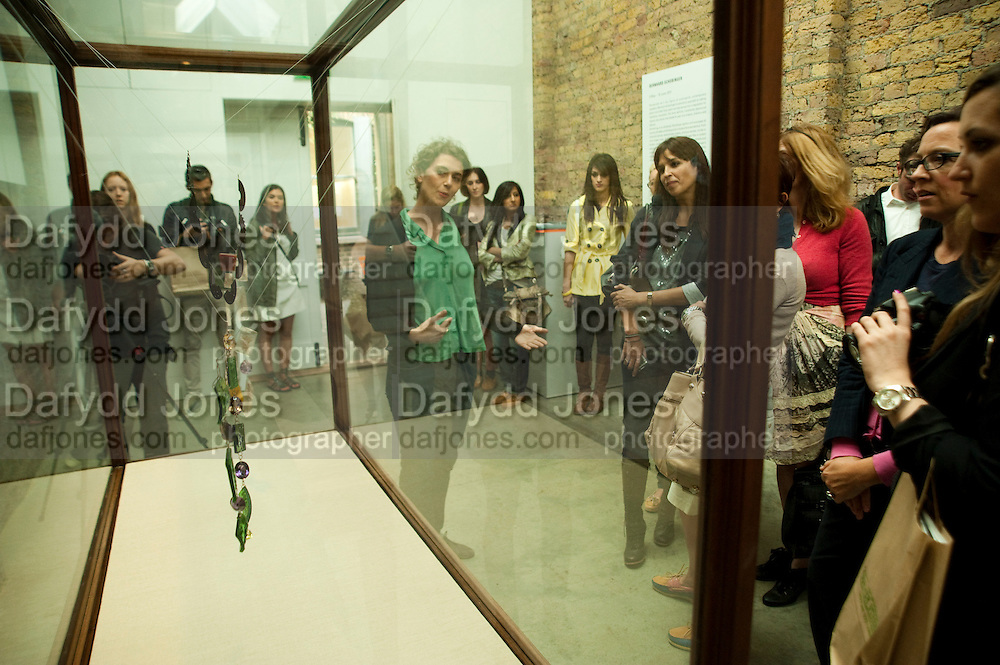 ANTOINTETTE VONDER AT THE BERNHARD SHONINGER GALLERY , Design Your Own Timberland breakfast and Autumn/ Winter 2011 preview. Timberland. 1 Fournier St. London. Followed by an art tour by Julia Royce. 8 June 2011. <br /> <br />  , -DO NOT ARCHIVE-© Copyright Photograph by Dafydd Jones. 248 Clapham Rd. London SW9 0PZ. Tel 0207 820 0771. www.dafjones.com.