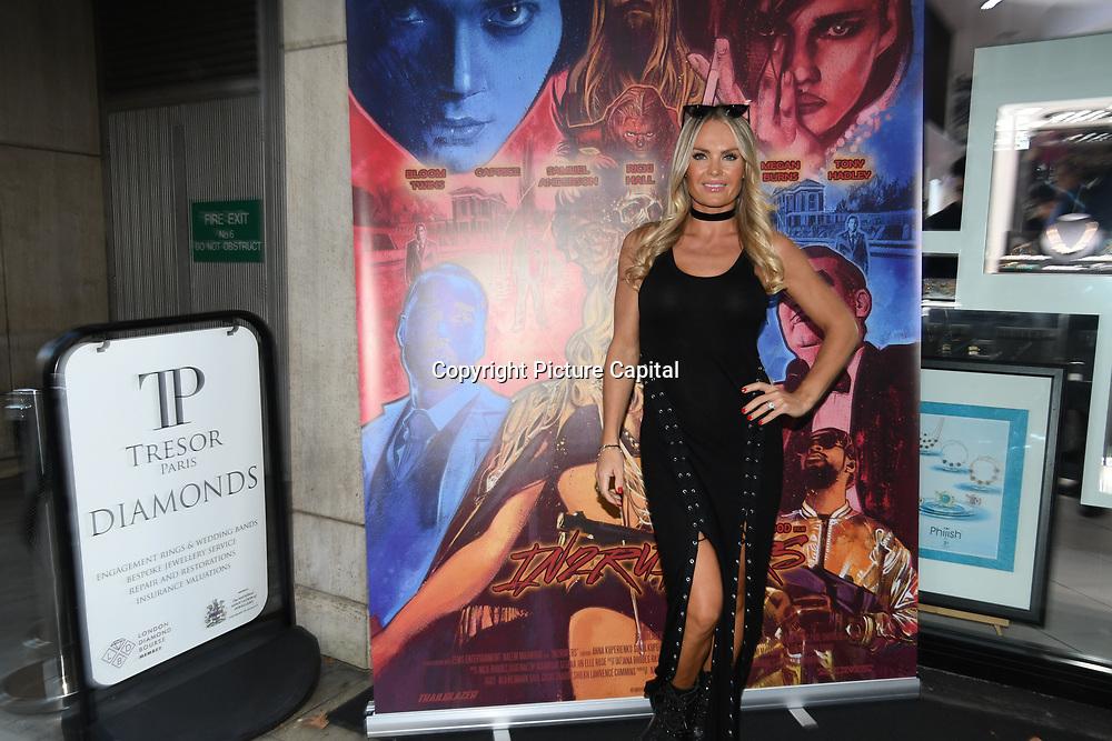 Annie Cooper is a actress arrives at Tresor Paris In2ruders - launch at Tresor Paris, 7 Greville Street, Hatton Garden, London, UK 13th September 2018.