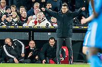 ROTTERDAM - Feyenoord - AZ , Voetbal , Seizoen 2015/2016 , Halve finales KNVB Beker , Stadion de Kuip , 03-03-2016 ,  Giovanni van Bronckhorst geniet van het moment en viert de overwinning