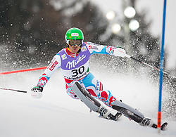 17.02.2013, Planai, Schladming, AUT, FIS Weltmeisterschaften Ski Alpin, Slalom, Herren, 1. Durchgang, im Bild Steven Theolier (FRA) // Steven Theolier of France in action during 1st run of the mensSlalom at the FIS Ski World Championships 2013 at the Planai Course, Schladming, Austria on 2013/02/17. EXPA Pictures © 2013, PhotoCredit: EXPA/ Johann Groder