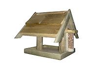 Wooden Bird Table. A common design for feeding garden birds.