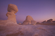 Chalk formations in the white desert, near Farafra Oasis, Egypt