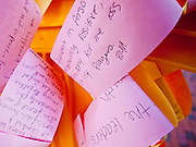 "obamatucson 12 JANUARY 2011 - TUCSON, AZ: The paper ""chain of expression"" brought into the Together We Thrive Tucson & America event on University of Arizona campus. The service is for the victims of Saturday's mass shooting at a Safeway in Tucson.        ARIZONA REPUBLIC PHOTO BY JACK KURTZ..Gabrielle Giffords shooting, mass shooting,"