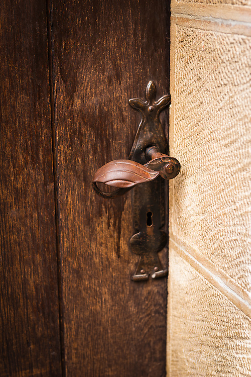 Old door knob, Lotrščak Tower in old town Gradec, Zagreb, Croatia