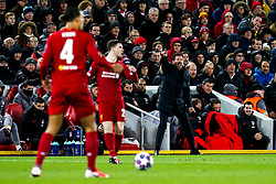 Atletico Madrid manager Diego Simeone cuts a frustrated figure - Mandatory by-line: Robbie Stephenson/JMP - 11/03/2020 - FOOTBALL - Anfield - Liverpool, England - Liverpool v Atletico Madrid - UEFA Champions League Round of 16, 2nd Leg