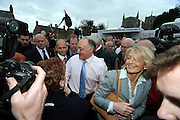 coservative Party Leader, Micheal howard, visits the Market Town of Rothwell in Northmaptonshire during his General election Campaign tour.