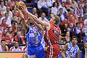 DESCRIZIONE : Milano Lega A 2014-15 EA7 Emporio Armani Milano vs Banco di Sardegna Sassari playoff Semifinale gara 1 <br /> GIOCATORE : Nicolo Melli<br /> CATEGORIA : Stoppata<br /> SQUADRA : EA7 Emporio Armani Milano <br /> EVENTO : PlayOff Semifinale gara 1<br /> GARA : EA7 Emporio Armani Milano vs Banco di Sardegna SassariPlayOff Semifinale Gara 1<br /> DATA : 29/05/2015 <br /> SPORT : Pallacanestro <br /> AUTORE : Agenzia Ciamillo-Castoria/Mancini Ivan<br /> Galleria : Lega Basket A 2014-2015 Fotonotizia : Milano Lega A 2014-15 EA7 Emporio Armani Milano vs Banco di Sardegna Sassari playoff Semifinale  gara 1 Predefinita :