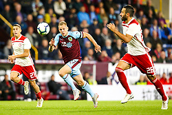 Matej Vydra of Burnley chases down the ball - Mandatory by-line: Robbie Stephenson/JMP - 30/08/2018 - FOOTBALL - Turf Moor - Burnley, England - Burnley v Olympiakos - UEFA Europa League Play-offs second leg