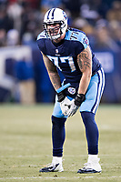NASHVILLE, TN - DECEMBER 31:  Taylor Lewan #77 of the Tennessee Titans yells to the officials after a penalty during a game against the Jacksonville Jaguars at Nissan Stadium on December 31, 2017 in Nashville, Tennessee.  The Titans defeated the Jaguars 15-10.  (Photo by Wesley Hitt/Getty Images) *** Local Caption *** Taylor Lewan