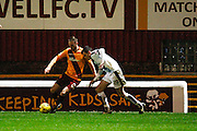 Motherwell FC Defender Craig Reid on the attack<br />  during the Ladbrokes Scottish Premiership match between Motherwell and Dundee at Fir Park, Motherwell, Scotland on 12 December 2015. Photo by Craig McAllister.