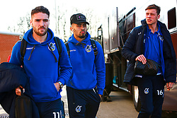 Luke Leahy, Josh Ginnelly and Tom Davies of Bristol Rovers makes their way to the Aesseal New York Stadium - Mandatory by-line: Ryan Crockett/JMP - 18/01/2020 - FOOTBALL - Aesseal New York Stadium - Rotherham, England - Rotherham United v Bristol Rovers - Sky Bet League One