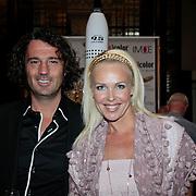 NLD/Amsterdam/20110521 - Amsterdam fashion Gala 2011, Denise Boekhoff en partner