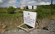 Cabot oil and gas facking site in Susquehanna County, PA.
