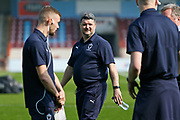 Simon Bassey First Team Coach during the EFL Sky Bet League 1 match between Scunthorpe United and AFC Wimbledon at Glanford Park, Scunthorpe, England on 30 March 2019.
