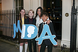 Tara Whelan, Ryan Wiggins and Junior Frood (winners of the Diana Award, left to right) with Maria Bravo (creator of The Global Gift Gala) posing for photos outside 11 Downing Street to celebrate seventeen years of the Diana Award. This award, set up in memory of Princess Diana, today has the support of both her sons the Duke of Cambridge and Prince Harry. Photo date: Wednesday, October 19, 2016. Photo credit should read: Richard Gray/EMPICS Entertainment
