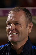 York City Manager Russell Wilcox during the Sky Bet League 2 match between York City and Dagenham and Redbridge at Bootham Crescent, York, England on 20 October 2015. Photo by Simon Davies.