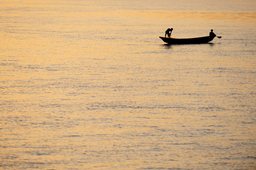 Two people in a boat, Brazil