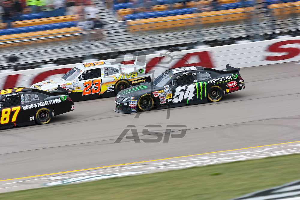 NEWTON, IA - MAY 20, 2012:  Kurt Busch (54) races during the track for the Pioneer Hi-Bred 250 at the Iowa Speedway in Newton, IA.