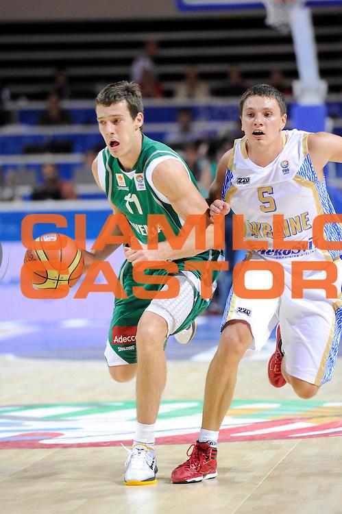 DESCRIZIONE : Klaipeda Lithuania Lituania Eurobasket Men 2011 Preliminary Round Ucraina Slovenia Ukraine Slovenia<br /> GIOCATORE : Goran Dragic<br /> SQUADRA : Slovenia<br /> EVENTO : Eurobasket Men 2011<br /> GARA : Ucraina Slovenia Ukraine Slovenia<br /> DATA : 01/09/2011<br /> CATEGORIA : palleggio<br /> SPORT : Pallacanestro <br /> AUTORE : Agenzia Ciamillo-Castoria/C.De Massis<br /> Galleria : Eurobasket Men 2011<br /> Fotonotizia : Klaipeda Lithuania Lituania Eurobasket Men 2011 Preliminary Round Ucraina Slovenia Ukraine Slovenia<br /> Predefinita :