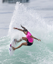 September 15, 2017 - San Onofre, California, USA - Silvana Lima of Brazil surfs on her way to defeating Keely Andrew of Australia in the final of the Swatch Pro held at San Onofre State Beach. (Credit Image: © Mark Rightmire/The Orange County Register via ZUMA Wire)