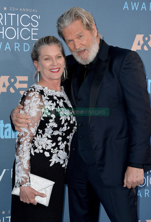 Jeff Bridges and Susan Geston attend the 22nd Annual Critics' Choice Awards at Barker Hangar on December 11, 2016 in Santa Monica, Los Angeles, CA, USA. Photo By Lionel Hahn/ABACAPRESS.COM