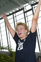 Svømming - NM i langbane Piranlegget Trondheim 6. juli 2002. Ann Kristin Aamodt fra Tromsø vant overraskende 50 meter rygg for damer.<br /> <br /> Foto: Andreas Fadum, Digitalsport